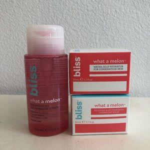 BLISS watermelon toner, mask & moisturizer! 3 pack